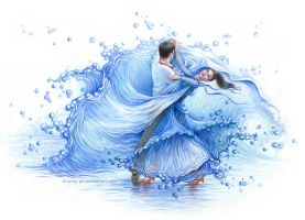 Water dance by Anity-art