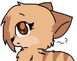 My Warrior OC/ my self as a cat by Violetkay214