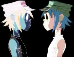 2D's nightmare by tyrblue