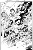 Superman 709 Page 4 Inks by JPMayer