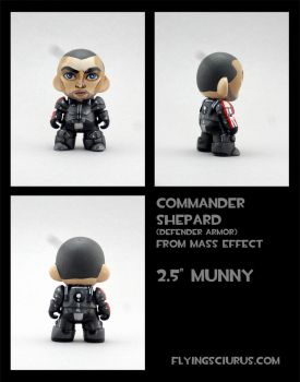 Commander Shepard custom munny by FlyingSciurus