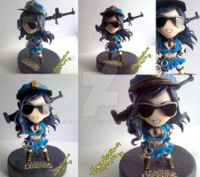 Officer Caitlyn League of Legend polymer clay by yuisama