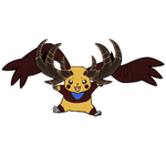 Jackalomon #The Jackalope Digimon by OswaldLunaire