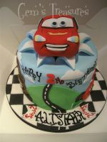 Cars 2 Cake by gertygetsgangster