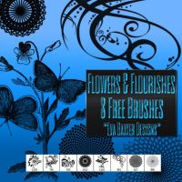 Flowers And Flourishes: 8 Free Brushes by EvaTakesNoPrisoners