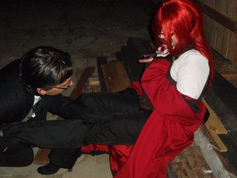 Will stroking Grell's leg by J05
