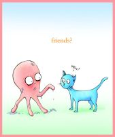 The Octopi and The Kitten by glassonion14