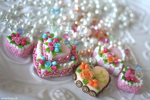 cake neckalces by SamanthaJoy