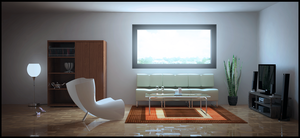 3DSMAX First interior test by externible