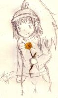 Girl with Flower by little-ampharos