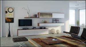 3D TV Room Set - 02 by FEG