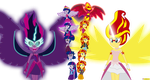 Twilight Sparkle vs Sunset Shimmer EG by CoNiKiBlaSu-fan
