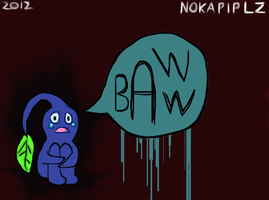Crying Blue Pikmin by NOKAPIplz