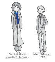 Johnlock Chibis by The-Goddess-of-Time