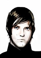 Paul Banks in desaturated color by haymakers