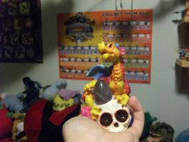 little yellow dragon with stone egg by legendarydragonstar
