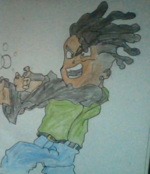 Me if I was in Dragon Ball Z by Basherkid