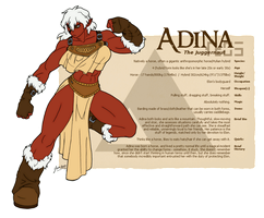 Character Guide - Adina by foxlee