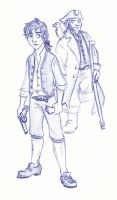 Disney Un-Disneyed: Jim Hawkins and Captain Silver by kuabci