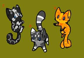 Kitten adoptables batch  2 by Apriifox