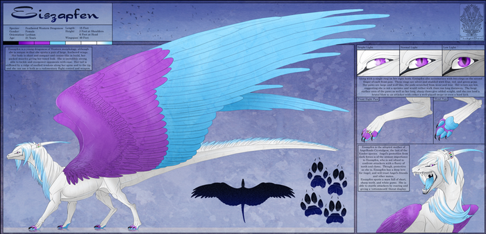 Ref Sheet Comish - Eiszapfen by TwilightSaint
