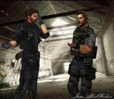 Wesker and Chris swap bodies by IamAlbertWesker