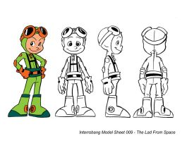 The Lad From Space Model Sheet by kevinbolk
