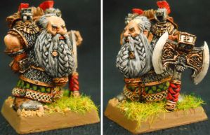 Forge World Dwarf Lord with Great Weapon Alt Sides by Hobbittzu