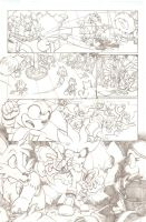Sonic the Hedgehog 247 page 3 PENCILS by EvanStanley