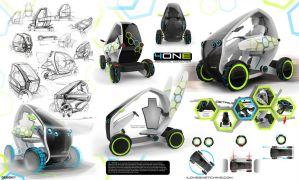 4one | e-mobility | ultra lightweight vehicle by ecco666