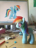 Finished mane of Rainbow Dash by LeFay00