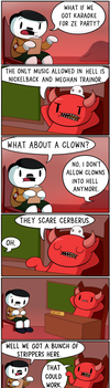 Satans Birthday by theodd1soutcomic