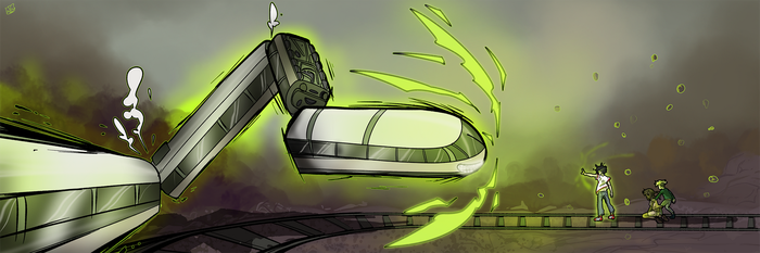 Ghost Train by ghostbadgers