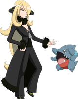 Smash - Cynthia and Gible .:Fixed:. by LucarioShirona