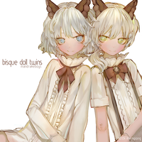 Bisque doll twins by Memipong