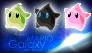 Mario Galaxy Luma Dock Icons by MediaDesign