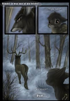 Bambi and his father -comic- by AllesiaTheHedge