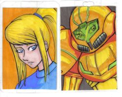 Metroid Samus Aran  Con Badges by neilak20
