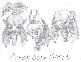 the powergoth girls by grimtalesreaper