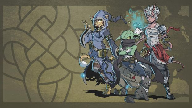 My Pathfinder party wallpaper by PaperMoon92