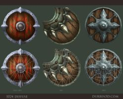 3 Hand painted shields by JerkDrive