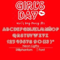 Girlsday Party#2   Font by StillPhantom