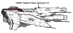 UNMC Paladin-Class Destroyer V2 by Malcontent1692