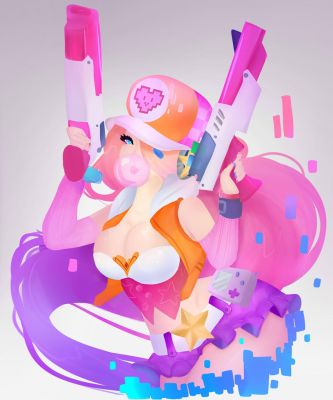 arcade miss fortune fan art by sounds-like-balloons