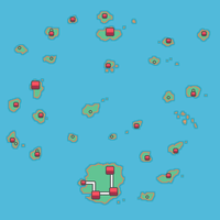 Orange Islands HGSS map style with towns by abcboyck