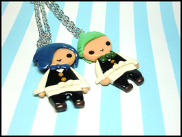 Cilan and Cress Necklaces by GrandmaThunderpants