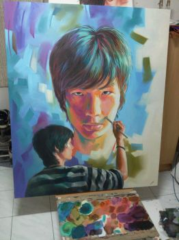 self portrait (I painted myself) by him560