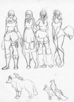 The Wolf, Raven, Fox, and Hawk by kixx27