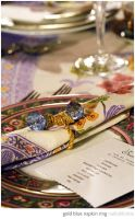 gold blue napkin ring by ink-brains2