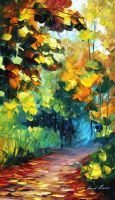 Autumns life oil painting on canvas by L.Afremova by Leonidafremov